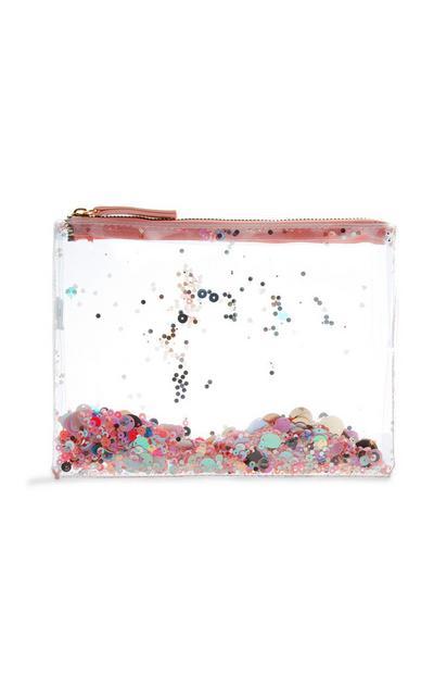 Clear Glitter Purse