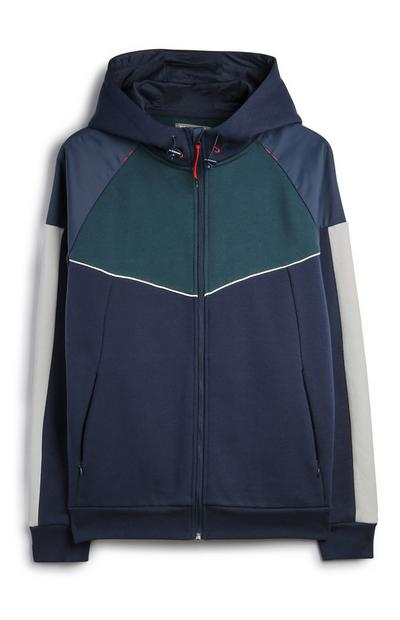 Nylon Panel Colourblock Jacket