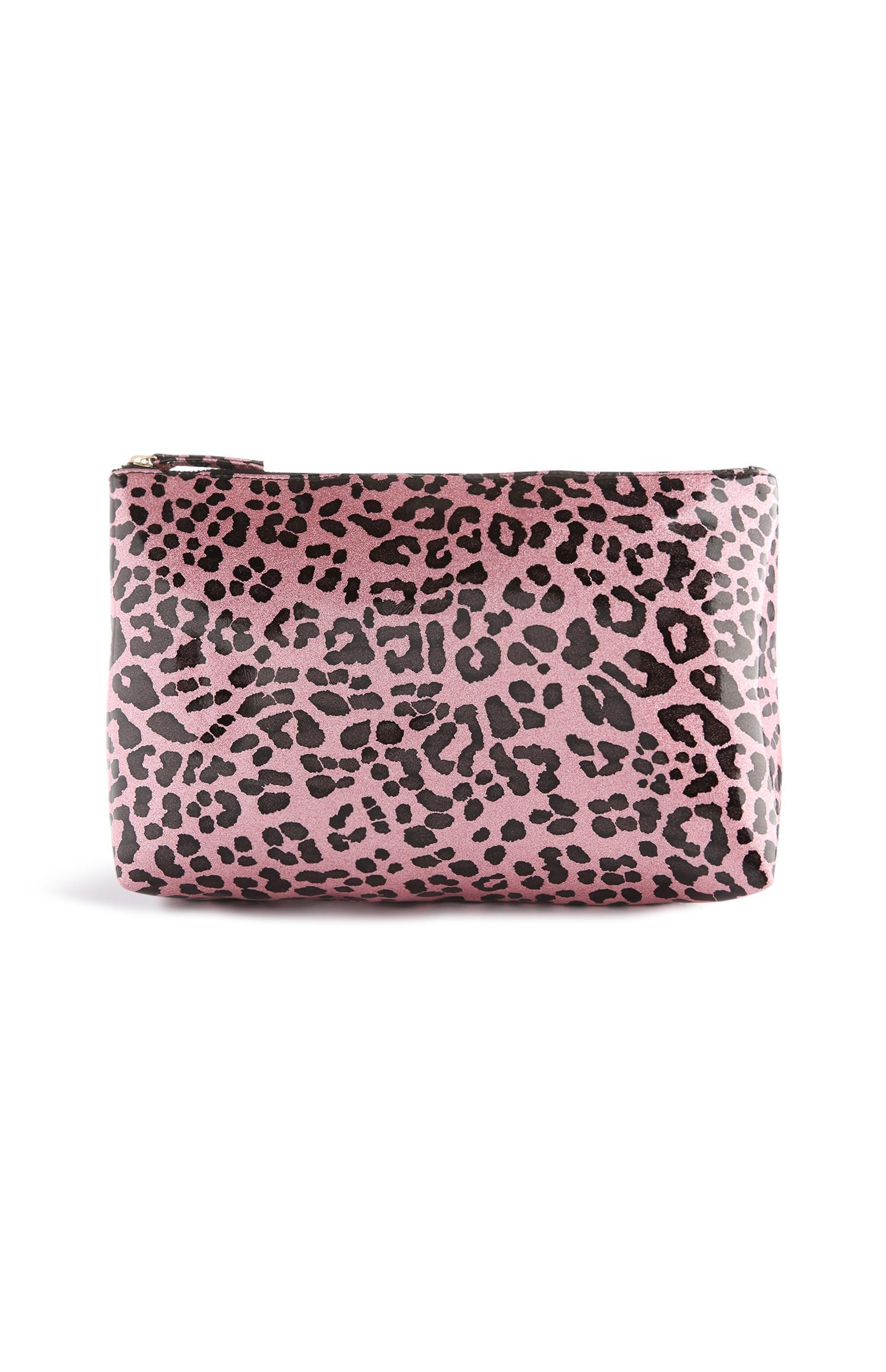 26de8ad3ed4c73 Pink Leopard Print Make Up Bag | Makeup bag | Bags purses | Womens ...