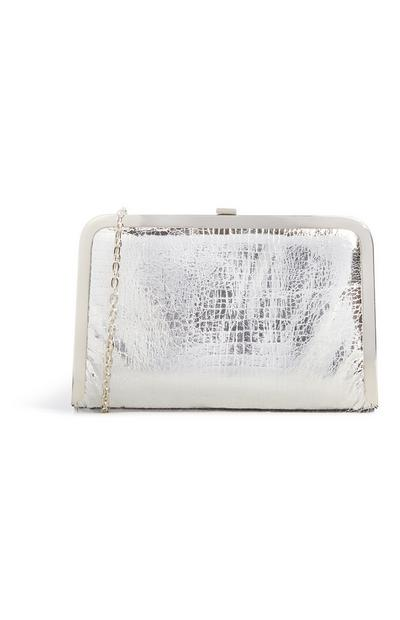Silver Snake Texture Cross Body