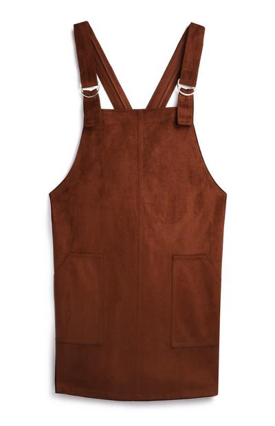Chocolate Brown Pinafore Dress