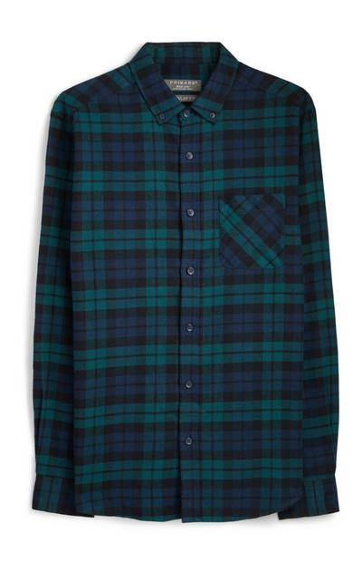 Green Chekc Flannel Shirt