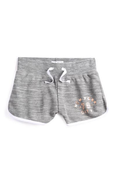Older Girl Grey Shorts