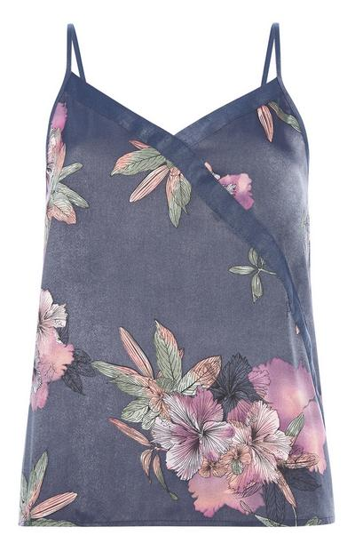 Satin Floral Cami Top