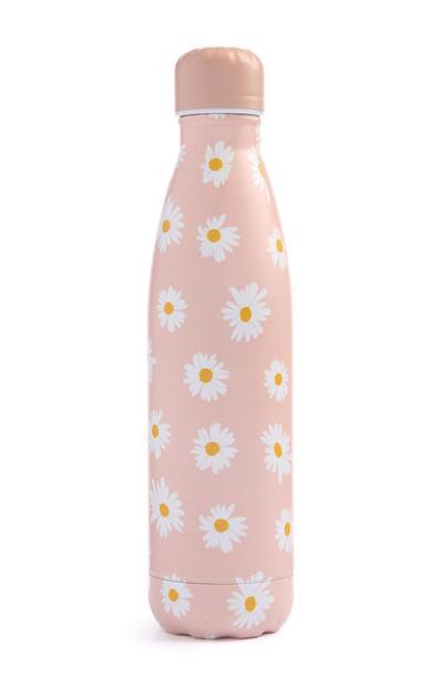 Pink Daisy Water Bottle