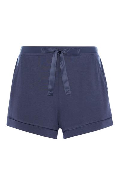 Navy Pyjama Short