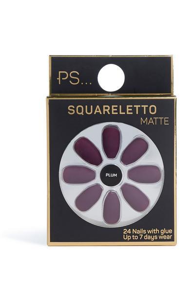 Squareletto Matte Nails