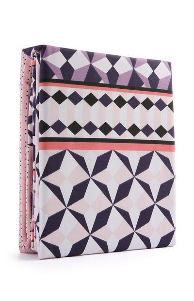 Purple Pattern Duvet Set