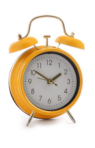 Mini Yellow Alarm Clock
