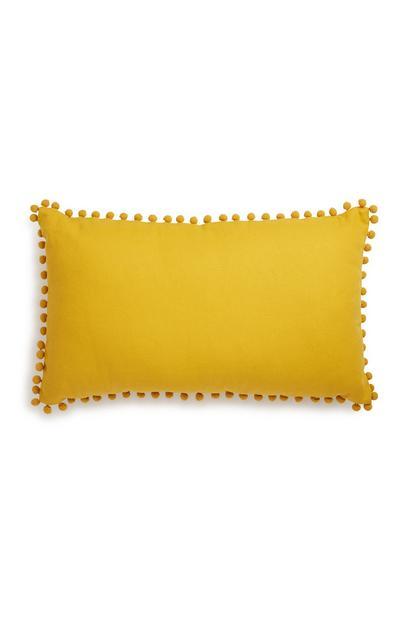 Oblong Yellow Cushion