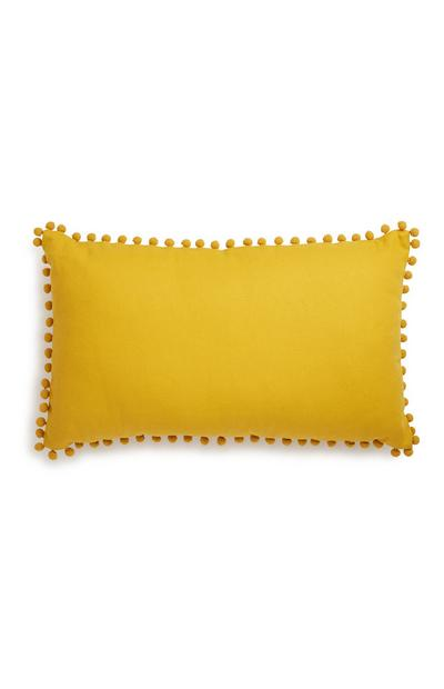 Oblong Yellow Cushion