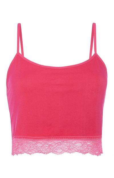 Hot Pink Crop Cami