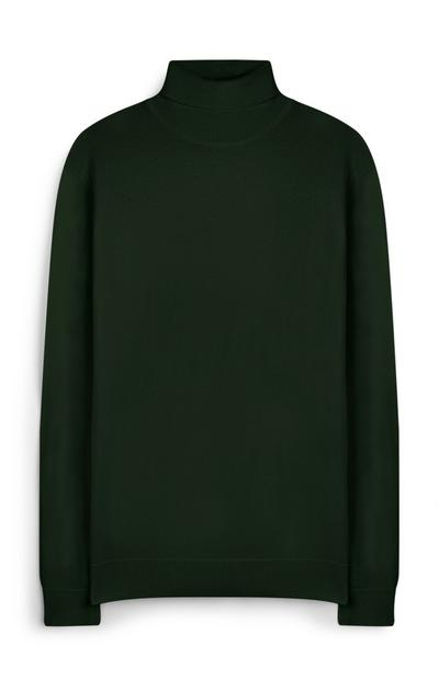Green Roll Neck Jumper