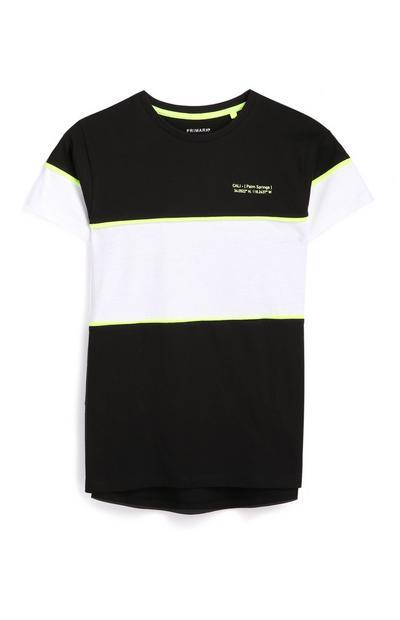 Schwarz-weißes T-Shirt mit Neon (Teeny Boys)