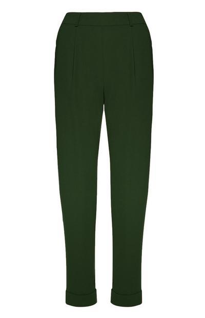 Dark Green Peg Trouser