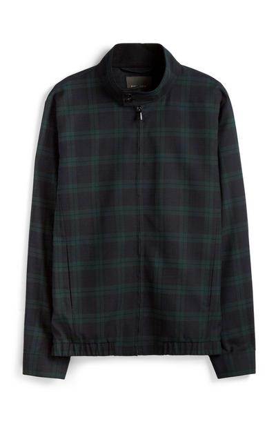 Green Check Bomber Jacket