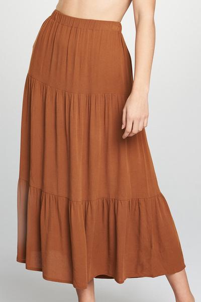 Light Brown Maxi Skirt