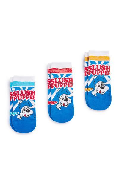 """Slush Puppie"" Sneakersocken, 3er-Pack"