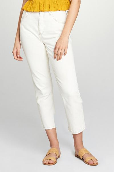 Ecru Straight Leg Jean