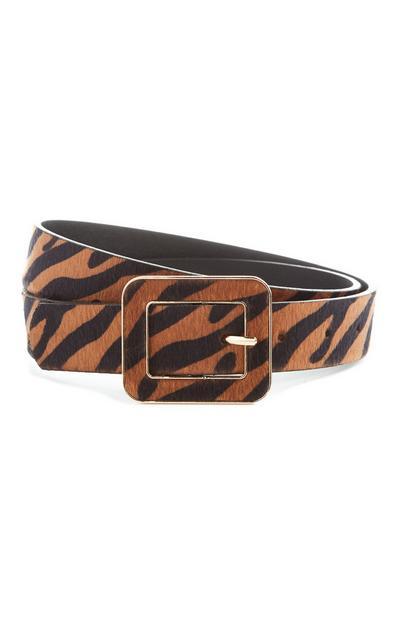 Gürtel mit Tiger-Print