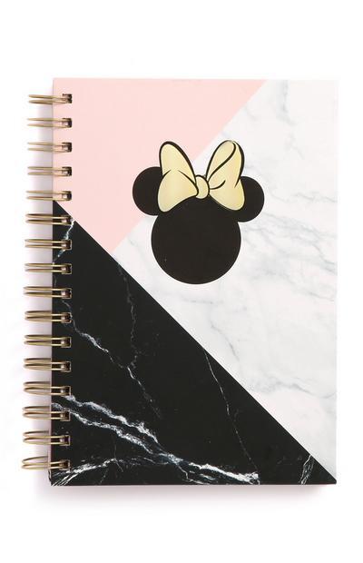 """""""Minnie Maus"""" A5-Notizbuch in Marmoroptik"""