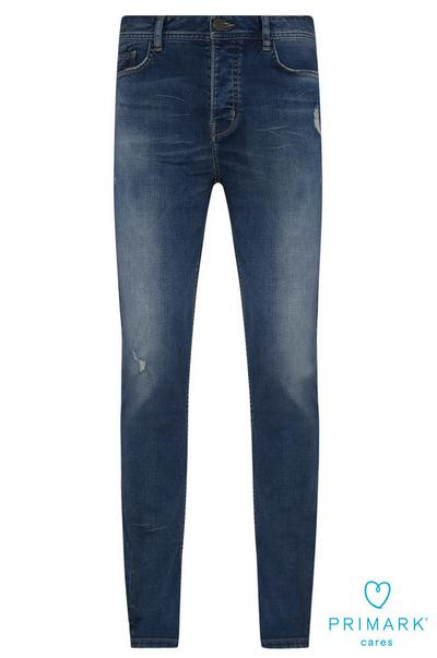Blue Slim Sustainable Cotton Jeans