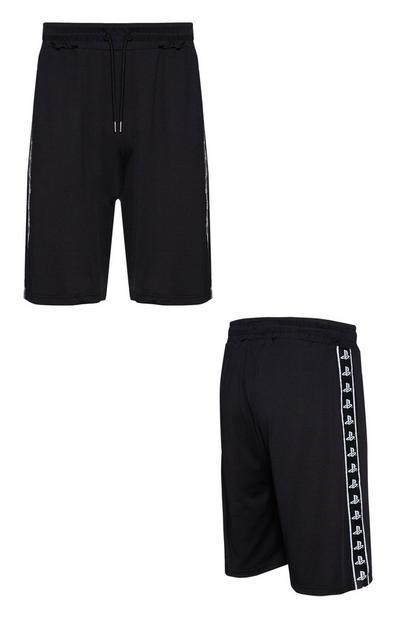 Black Playstation Shorts
