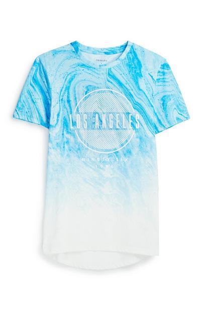 Blue Marble Effect T-Shirt