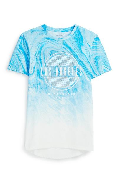 Blue Marble Effect T-Shirt