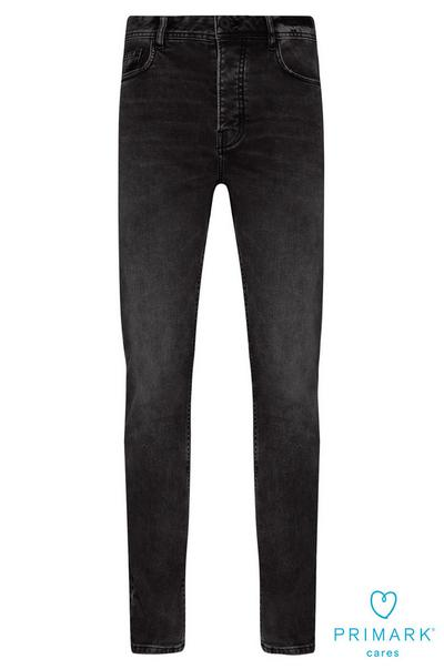 Black Slim Sustainable Cotton Jeans