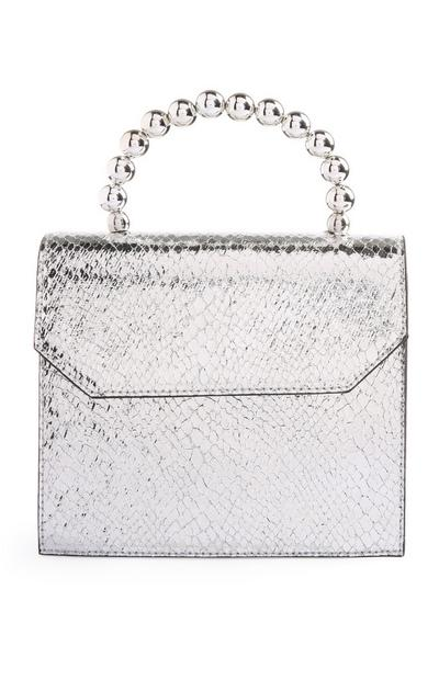 Silver Bead Handle Bag