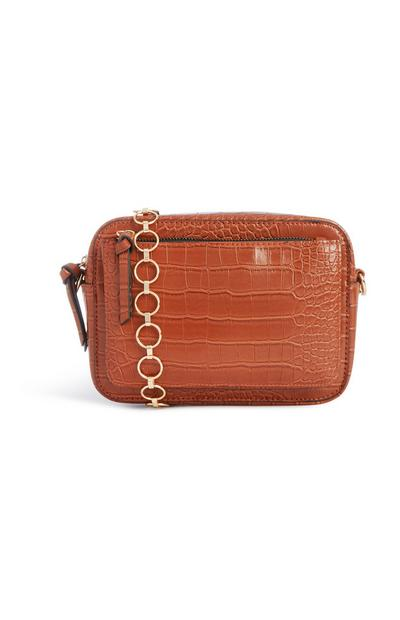 Croc Texture Cross Body Bag