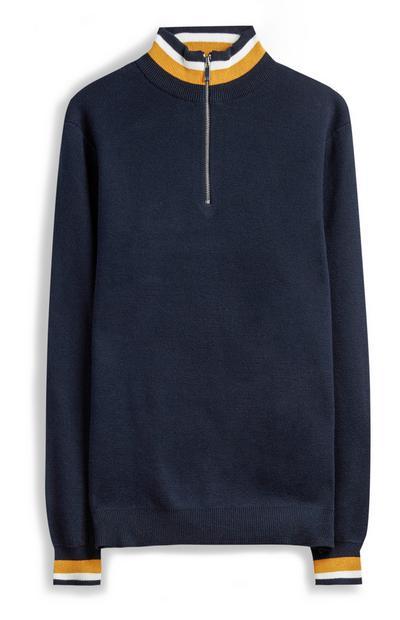 Navy Zip-Up Fleece