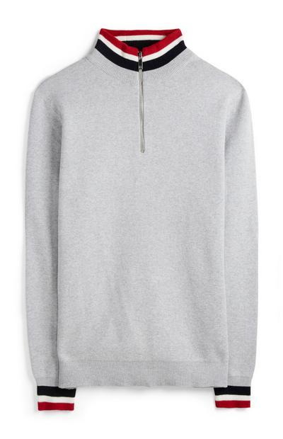 Grey Zip-Up Fleece