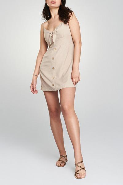 Tie Front Stone Dress