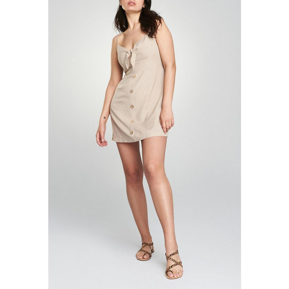 8ef9bc8764 Tie Front Stone Dress | Dresses | Womens | Categories | Primark UK