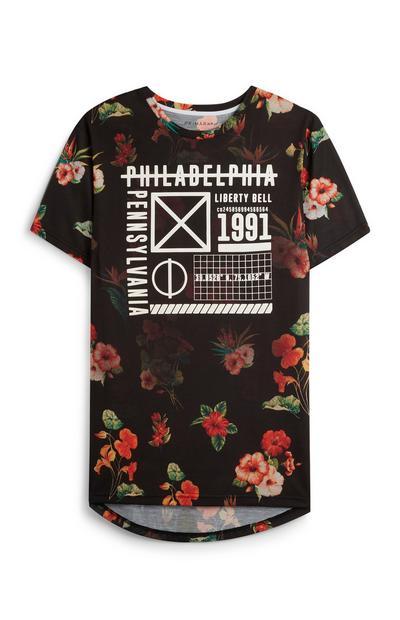 Black Floral T-Shirt