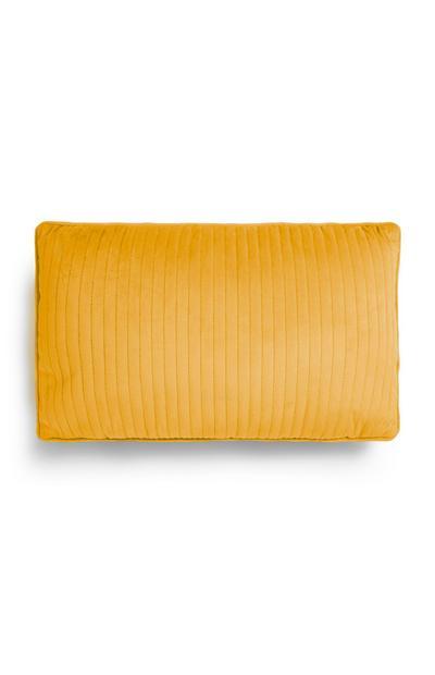 Mustard Velvet Oblong Cushion