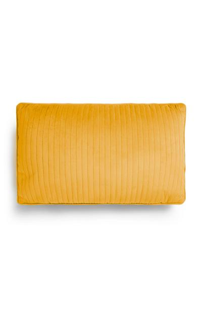 Mustard Velvet Oblong Cushion