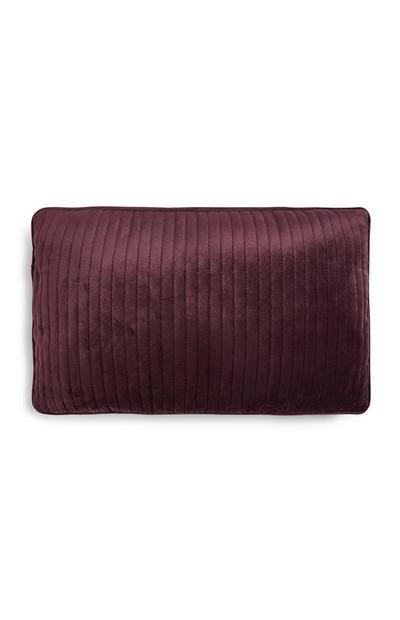Purple Velvet Oblong Cushion