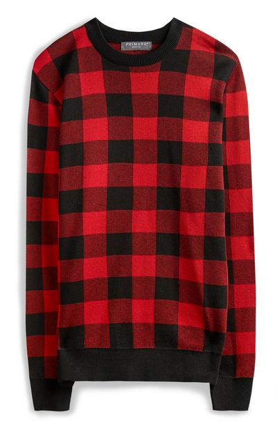 Red Check Jumper