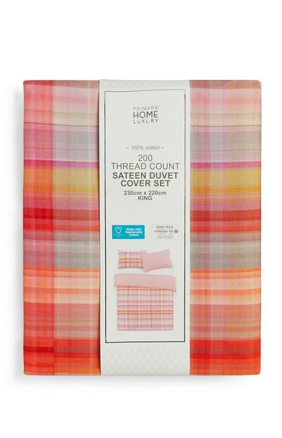 Sustainable Cotton King Size Duvet Cover