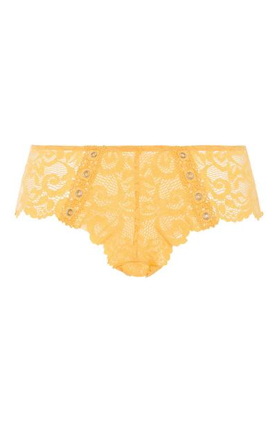 Mustard Lace Brief
