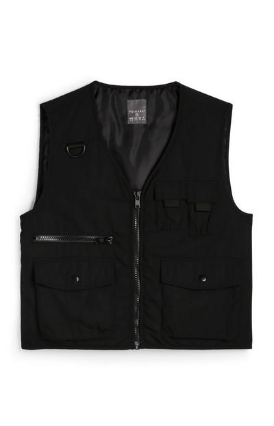 Black Tactical Padded Gilet
