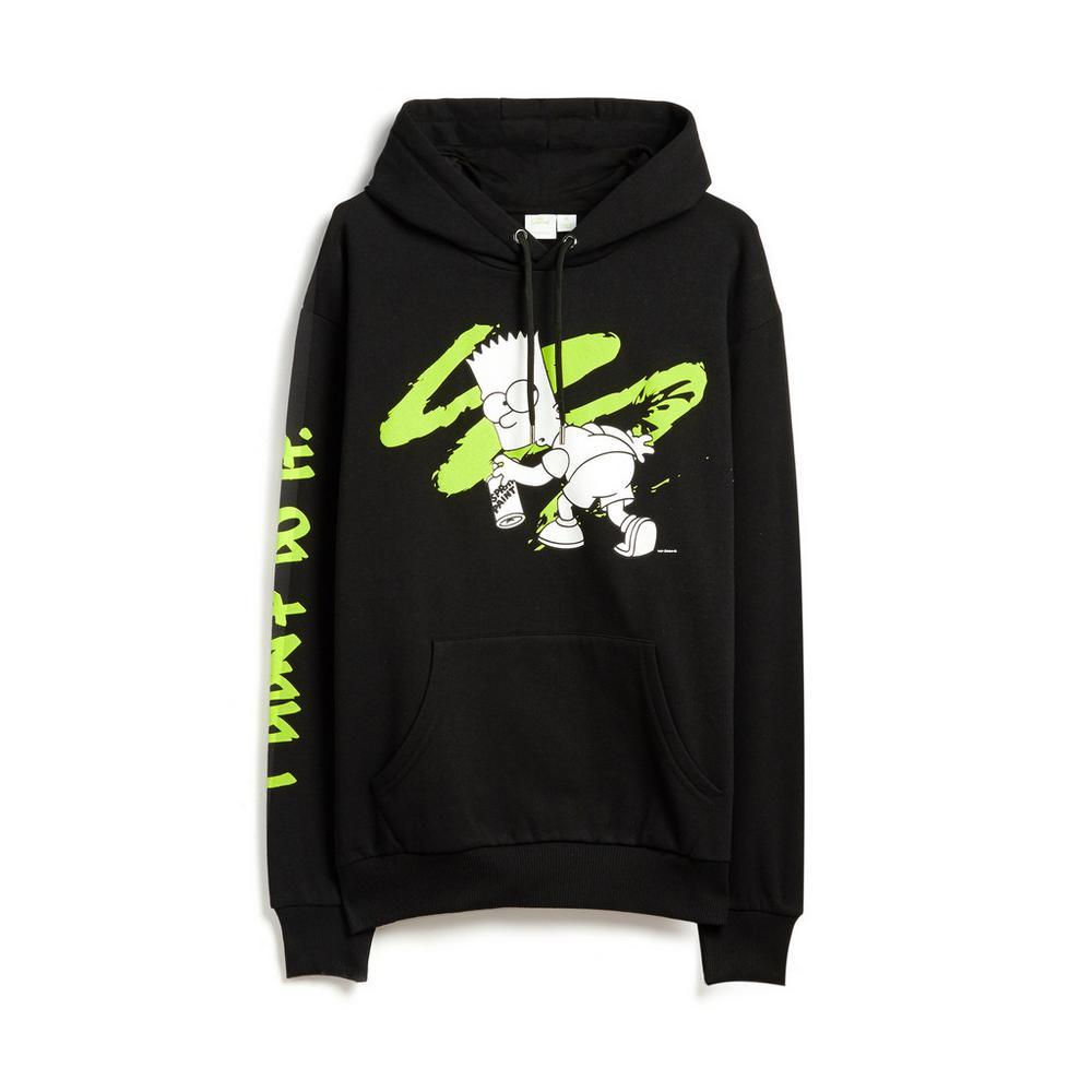 personalizadas calidad de marca a juego en color Sudadera con capucha de Bart Simpson | Sudaderas con y sin ...