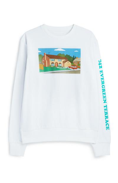White Simpsons Jumper