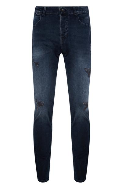 Blue Slim Bleach Jean