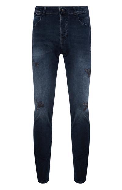 Blue Slim Bleach Jean