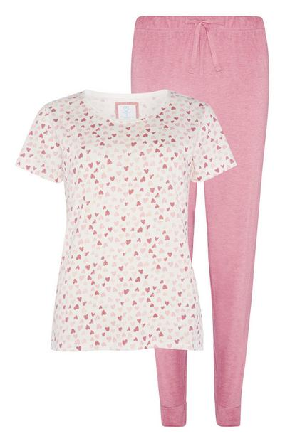 Sustainable Cotton Heart Pyjama Set