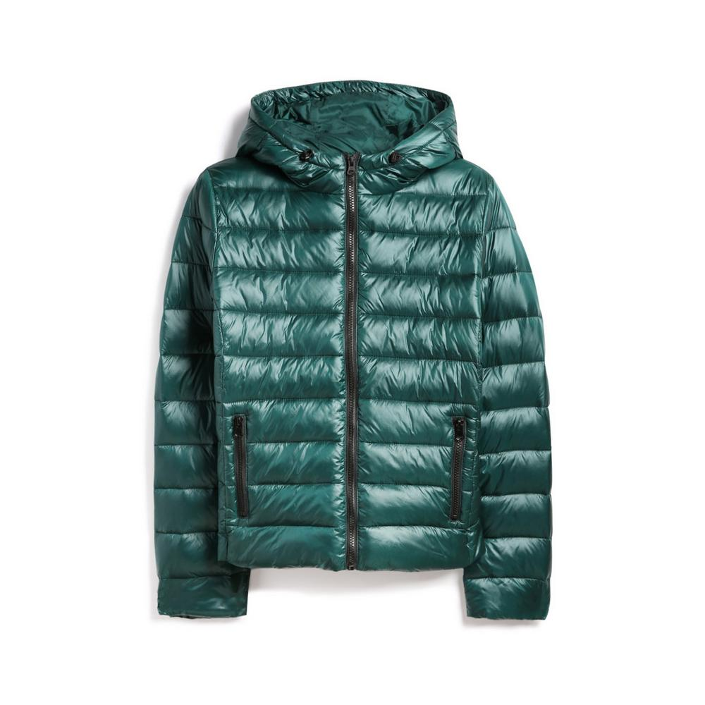 quality design 37075 25db4 Giaccone imbottito color ottanio lucido | Cappotti | Giacche ...